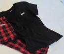 Black V-Neck T-Shirt - Small