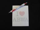 I ♥ ABWA notepad and pen set