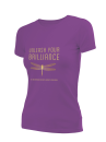 2019 Theme women's purple short sleeve t-shirt Large (this shirt runs small)