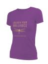 2019 Theme women's purple short sleeve t-shirt medium - this shirt runs small