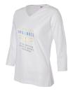2019 Theme women's v-neck 3/4 sleeve shirt large