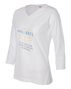2019 Theme women's v-neck 3/4 sleeve shirt XX large