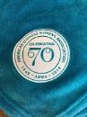 "70th Anniversary Chenille Blanket, 60"" X 50"""