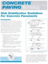 Slab Stabilization Guidelines for Concrete Pavements (TB018|PDF)