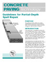 Guidelines for Partial-Depth Repair (TB003|PDF)