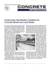 Construction Specification Guideline for Concrete Pavement Streets and Local Roads (IS119|PDF)