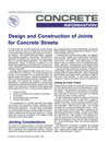 Design and Construction of Joints for Concrete Streets (IS061|PDF)
