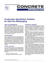 Construction Specification Guideline for Ultra-thin Whitetopping (IS120|PDF)