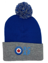 86106 RCAF Pom Pom Cuffed Toque (Blue/Grey)