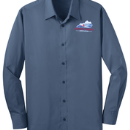 Men's Long Sleeve Shirt - Mid-Night Blue - KTA Embroidered Logo - S646