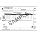 Driver's Daily Log Book With Detailed DVIR - Simplified Recap 2ply Carbon - 8532