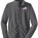 Men's Full-Zip Polar Fleece - Iron Grey - Embroidered KTA Logo - F217