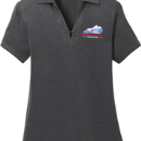 Women's Short Sleeve Polo - Dark Grey - Embroidered KTA Logo - L574