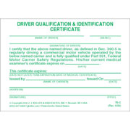 Driving Qualification & Identification Certification Cards - 324