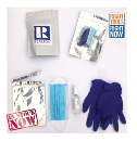 COVID-19 Protection Kit - mask, gloves and spray hand sanitizer