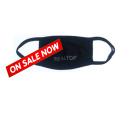 Mask - black/rhinestone 2-layer Realtor cloth washable