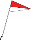 Flag with Plastic Stake