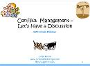 Supervisor Series: Conflict Management-Let's Have a Discussion